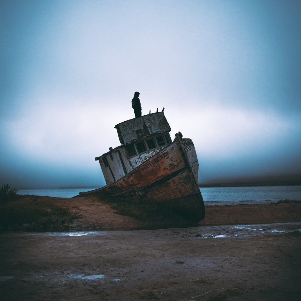 gestrandetes Schiff
